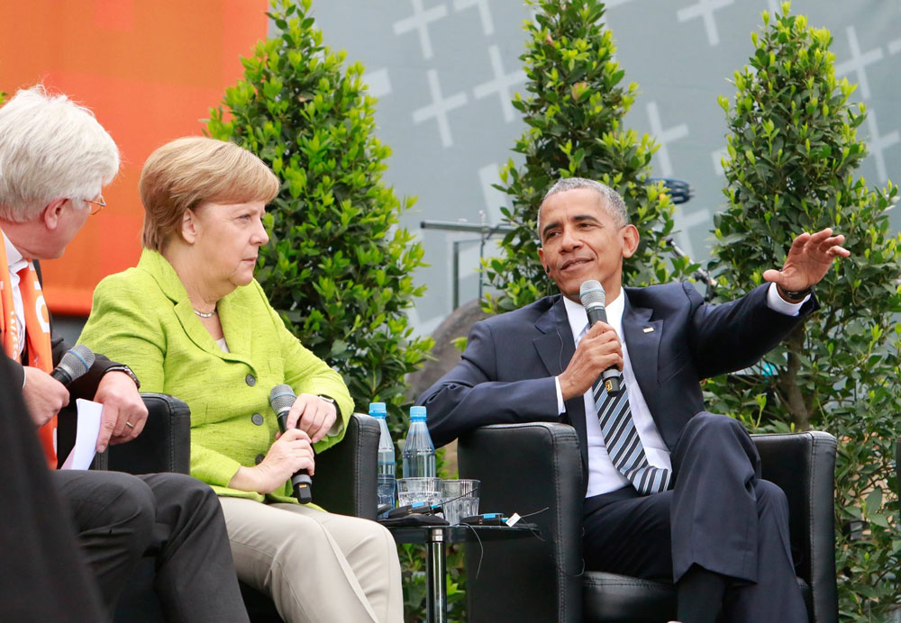 OBAMA, MERKEL AND THE 'NEVER AGAIN' ASSOCIATION AT KIRCHENTAG